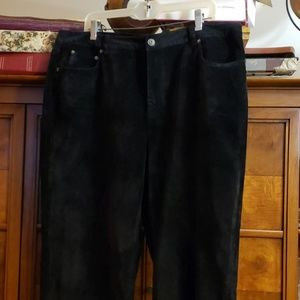 Talbots Stretch Velvet Pants, Black Size 18